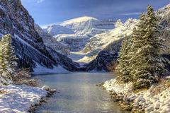 Lake Louise Winter Wonderland Stock Photography