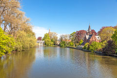 Lake of Love in Bruges Stock Photos