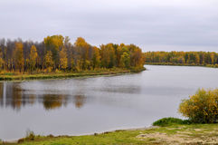 Lake Lower Curve in the Autumn Afternoon. Tyumen. Royalty Free Stock Photo