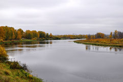 Lake Lower Curve in the Autumn Afternoon. Tyumen. Stock Photos