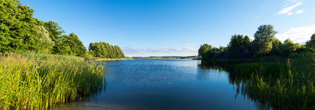 Lake in Lubichowo, Poland. Picture of lake in Lubichowo. Lubichowo is a small town located in Poland Stock Photos