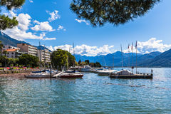 Lake of Lucarno Stock Photos