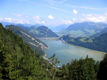 Lake Lucern from Mt Pilatus. Swiss Alps Royalty Free Stock Images