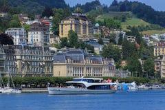 Lake Lucerne Arkivbilder