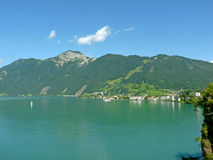 Lake Lucerne, Brunnen. SWITZERLAND. Beautiful view of Lake Lucerne, Brunnen. SWITZERLAND Royalty Free Stock Photo