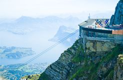 Lake of Lucerne and funicular, Switzerland Stock Image