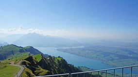 The Lake Lucerne from the Mount Rigi royalty free stock images