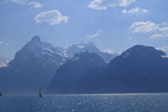 Lake Lucerne scenic Royalty Free Stock Photo
