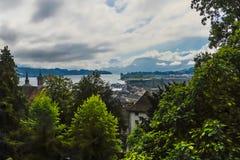 Lake Lucerne, Schweitz Arkivfoto
