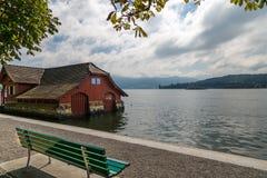 Lake Lucerne, Schweitz Arkivfoton