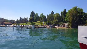 Lake Lucerne, Switzerland. Excursion Boat on Lake Lucerne, Switzerland, Europe stock footage