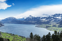 Lake lucerne top view Royalty Free Stock Image