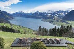 Lake lucerne top view Stock Photos
