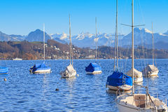 Lake Lucerne in Winter Royalty Free Stock Photos
