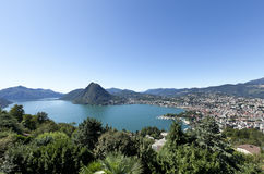 Lake Lugano Stock Photography