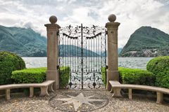 Lake Lugano. Stock Photos