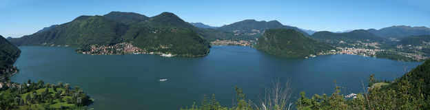 The Lake of Lugano Stock Images