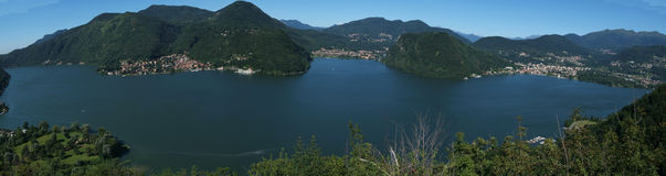 The Lake of Lugano Stock Photos