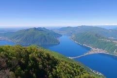 Lake Lugano as seen from Sighignola Royalty Free Stock Photography