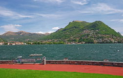 Lake Lugano,Lugano,Ticino,Switzerland Royalty Free Stock Photos