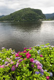 Lake of Lugano at Ponte Tresa Royalty Free Stock Photo