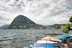 Lake Lugano. Switzerland. Europe. Stock Photography