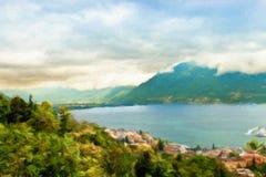 Lake Lugano. Switzerland. Europe. Royalty Free Stock Photography