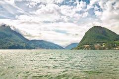 Lake Lugano. Stock Photos