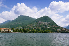 Lake Lugano, Switzerland Royalty Free Stock Photography