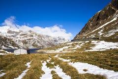 Lake at the Lukmanier pass Royalty Free Stock Image