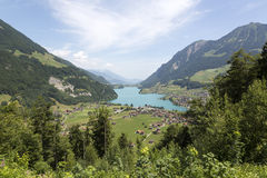 Lake Lungern in Central Switzerland Stock Images