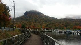 Lake Lure Boardwalk Royalty Free Stock Photo