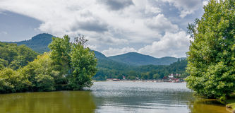 Lake lure and chimney rock  landscapes Stock Photo