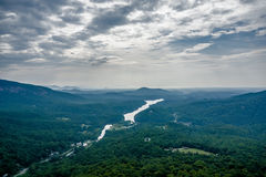 Lake lure and chimney rock  landscapes Royalty Free Stock Image