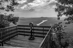 Lake lure and chimney rock  landscapes Stock Image