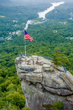 Lake lure and chimney rock  landscapes Stock Images