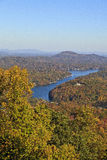 Lake Lure in the Fall Season Stock Photos