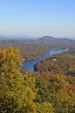 Lake Lure in the Fall Season Stock Photos