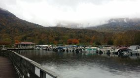 Lake Lure marina Stock Photo