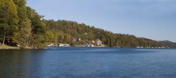 Lake lure panoramic Royalty Free Stock Photos