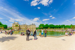 Lake in Luxembourg Palace, Paris, France Royalty Free Stock Image