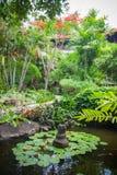 Lake in luxury Bali mansion Royalty Free Stock Image