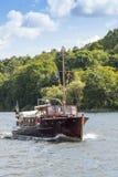 Lake Mälaren Sweden: Classic C G Pettersson motorboat Stock Photo