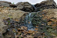 Lake MacBride Waterfall Stock Image