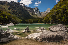 Lake Mackenzie in Fiordland National Park Royalty Free Stock Images