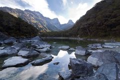 Lake Mackenzie - Routeburn Track stock photo