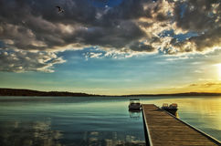 Lake Macquarie sunset Royalty Free Stock Photography