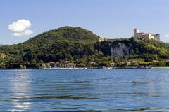 Lake Maggiore. Maggiore lake in Italy (environs of Arona royalty free stock image