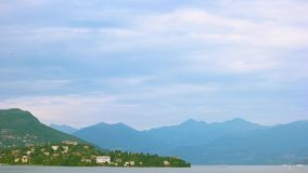 Lake Maggiore and Alps. stock video