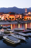 Lake Maggiore at dusk Stock Photography